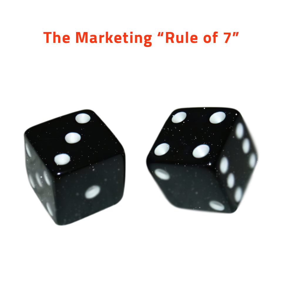 the rule of 7 in marketing. Turn your customer into a loyal person.